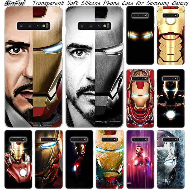 Hot super hero Iron Man Weiche Silikon Fall Für Samsung Galaxy S10 S9 S8 Plus S7 Rand A6 A8 Plus a7 A9 2018 A5 2017 Mode Abdeckung