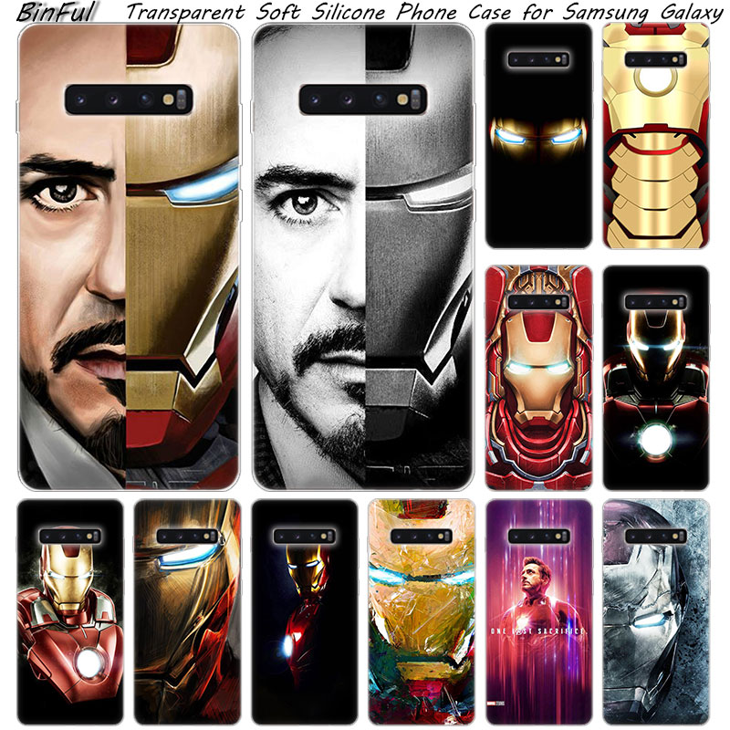 Hot super hero Iron Man Weiche Silikon Fall Für <font><b>Samsung</b></font> Galaxy S10 S9 S8 Plus S7 Rand A6 <font><b>A8</b></font> Plus a7 A9 2018 A5 2017 Mode Abdeckung image