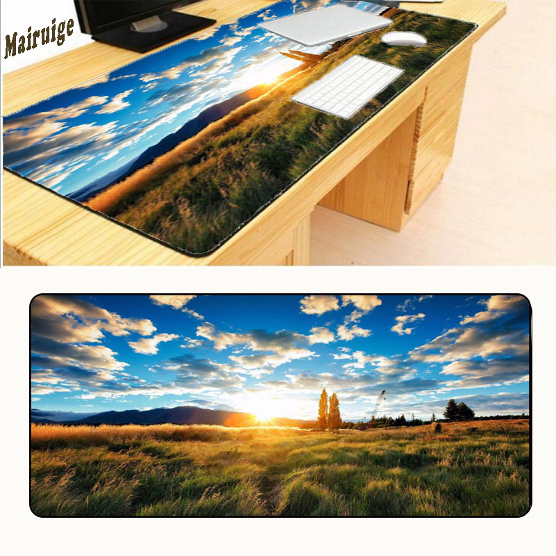 Latest Collection Of Mairuige High Quality Hot Selling Mountain In The Fog Scenery Mouse Pad Mouse Gaming Mat High Speed New Mousepad Large Size Big Clearance Sale Computer Peripherals