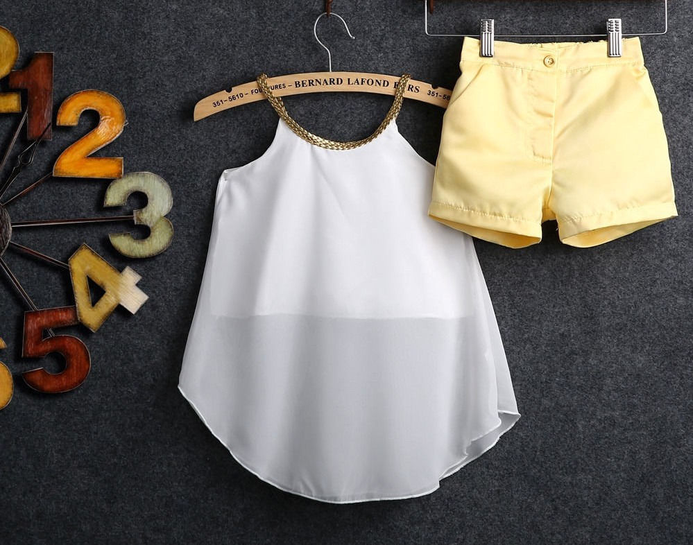 7ebc01201535 Fashion Summer Kids Baby Girls Chiffon Top Shirt Hot Pants Shorts Outfits  Clothes -in Clothing Sets from Mother & Kids on Aliexpress.com | Alibaba  Group
