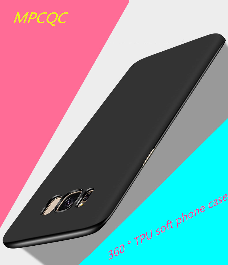 MPCQC Phone Case For Samsung Galaxy S8 Plus TPU Soft Silicone Black Luxury Cover Ultra Thin Phone Bag Case For S8 Plus