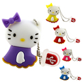 Pen drive usb dos desenhos animados flash drive 8 GB 16 GB 32 GB 64 GB Bonito hello kitty cat pendrive u disco personalidade encantadora usb 2.0 hot venda