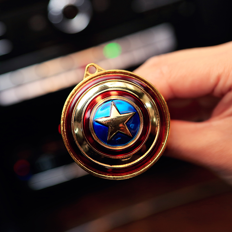 Hot sale Captain America shield car air freshener Car outlet perfume original fragrance car perfumes brands cars flavoring scent