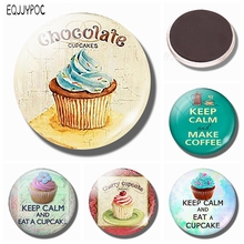 Chocolate Cupcake 30 MM Fridge Magnet Chocolate Lover Gift Glass Dome Magnetic Refrigerator Stickers Note Holder Home Decoration