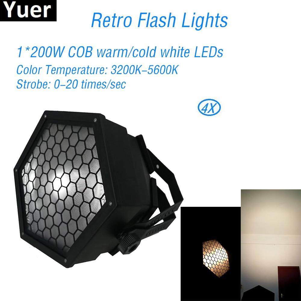 4Pcs/Lot Retro Flash Lights COB Par LED DMX Disco Light Club DJ equipment Color music Party LED Wash Stage Lighting Effects