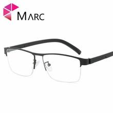 MARC Spectacle Frame Men Eyeglasses retro Square Flat Computer Comfortable Optical Male Eyewear Clear Lens Glasses Women
