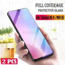 GYKZ 2pcs/lot Full Screen Tempered Glass For Xiaomi Mi 9 8 Anti Blu-ray Full Coverage Glass Protective film For Xiaomi Mi 9 SE(China)