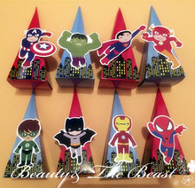 Superhero The Avengers Candy Box Gift Dessert Kids Party Supplies Birthday Decorations Event Baby Shower