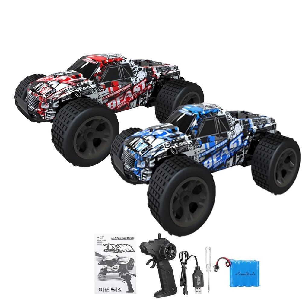 De alta velocidad 1 20 30 km h RC coche de Control remoto eléctrico  monstruo camión RC coche conductor de la rueda 2WD deriva campo de Buggy 6010d6bb7b6