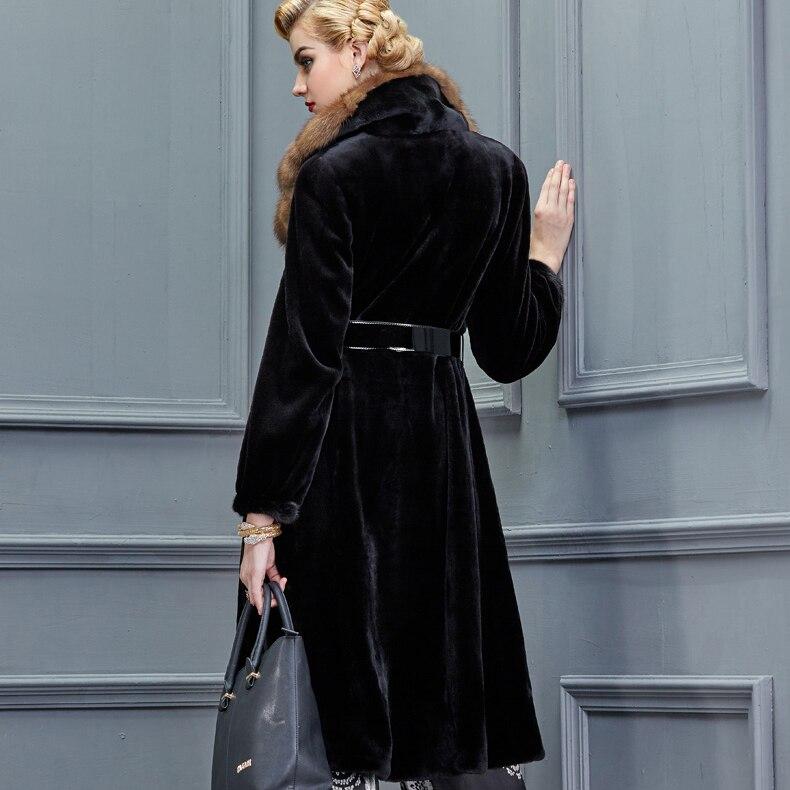 Cuir Les New De Phoenix Réel Col Chinchilla Luxe Femmes Russie Manteaux Fourrure Pour Véritable Martre Vison Manteau En qfxw4RU1I
