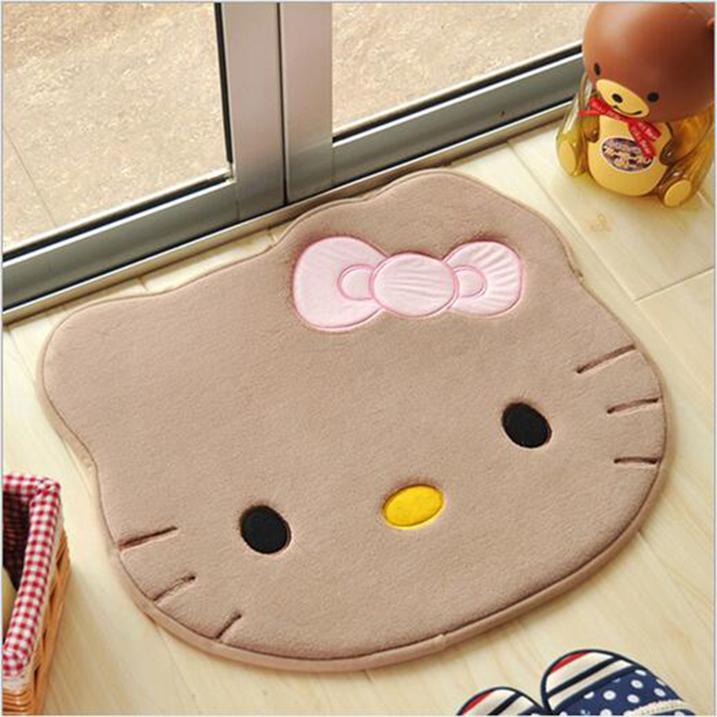 Cartoon Hello Kitty Bath Mats Memory Foam Bedroom Living Room Mats