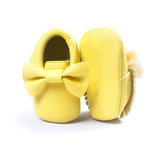 Baby Girls Shoes Tassels PU Leather Waterproof Baby Shoes Newborn Moccasin Soft Infants  Prewalker 18 colors 3