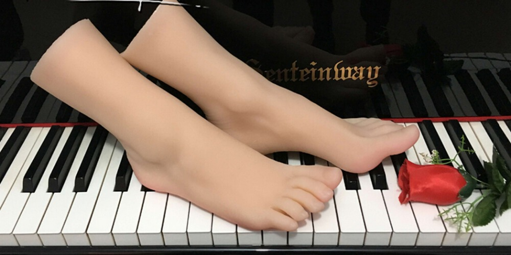 Top Quality New Sex Product,Soft Feet Fetish Toys for Man,Lifelike Female Feet Mannequin,Fake Feet Model for Sock Show, new top quality foot fetish toys solid silicone feet model sex toy adult toys for man lifelike skin ballet girl fake feet