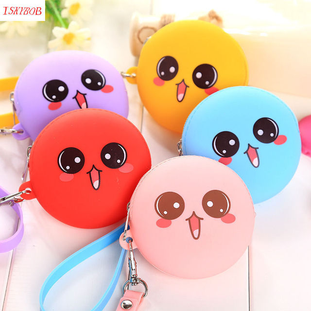 Pop Cute Big Eyes Girls Silicone Small Mini Coin Bag Mini Coin Purse Change Wallet Purse Women Key Wallet coin Wallet Children