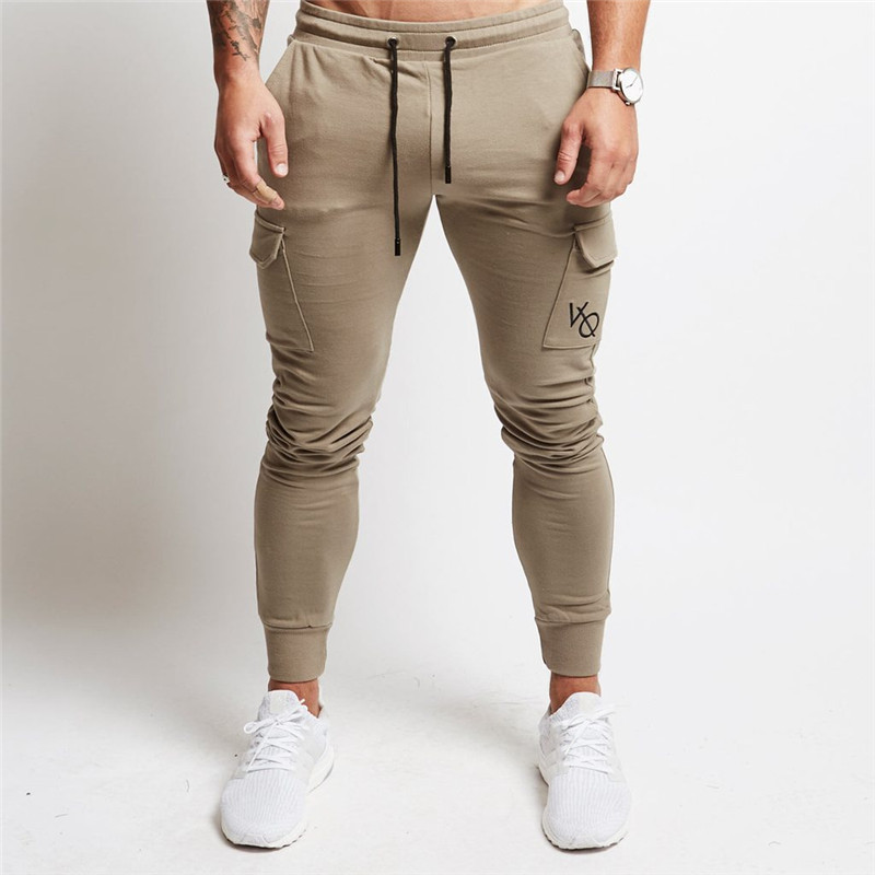 Running Pants Men Joggers Jogging Pants Leggings Mens Sport Cotton Pocket Trousers Gym Long Fitness Slim Fit Football Sweatpants цена