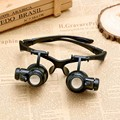 Zlimsn reparação olho de vidro 10x 15x 20x 25x jóias pulseiras de relógio reparação Óculos lupa Lens 2 Luzes LED Watch Repair Tool Kit TL01