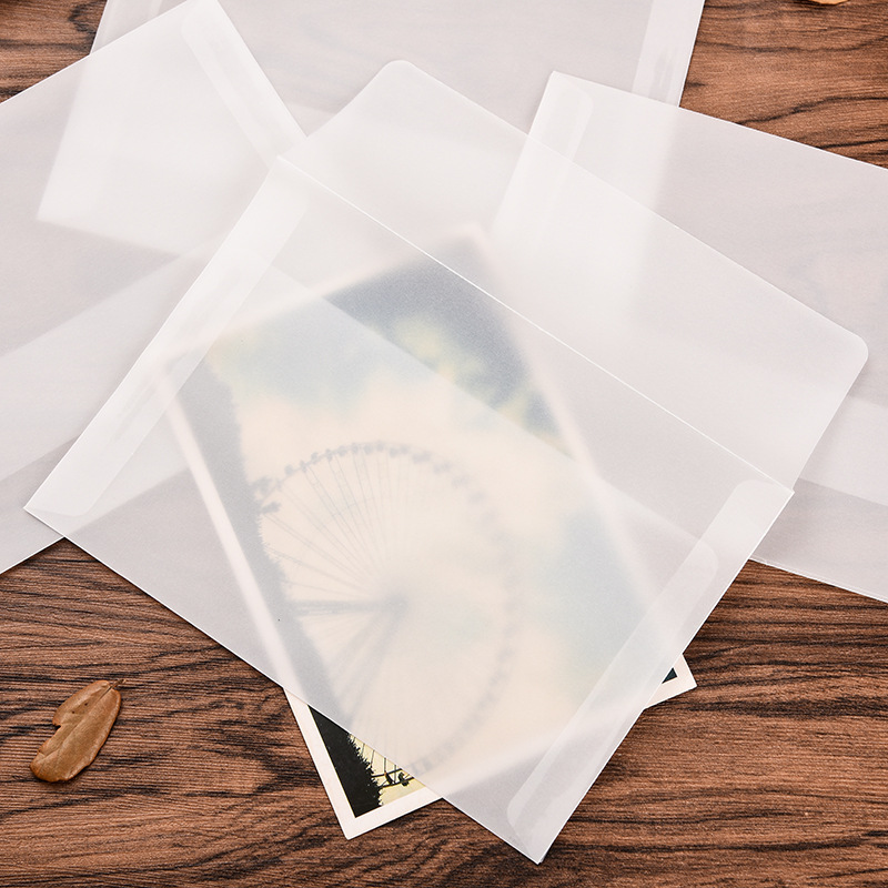 Wallet Envelope 10 Piece 17.5*12.5cm Korea Vintage Blank Translucent Vellum Envelopes Diy Ovely Gift