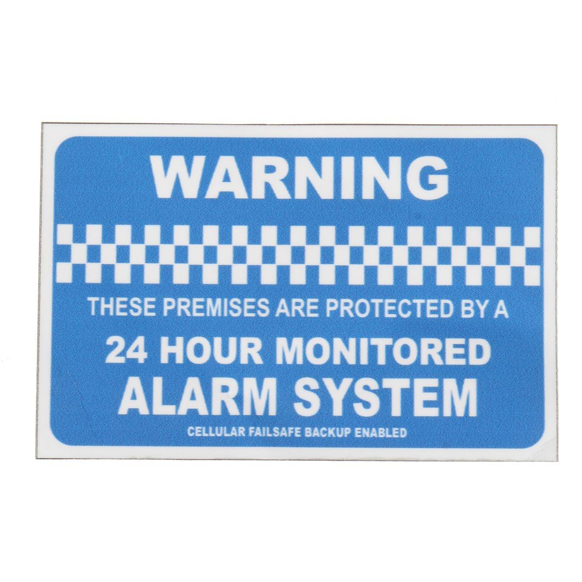 Safurance мониторинга сигнализации homesecurity Предупреждение Стикеры виниловые знак наклейка автомобиля дома или офиса