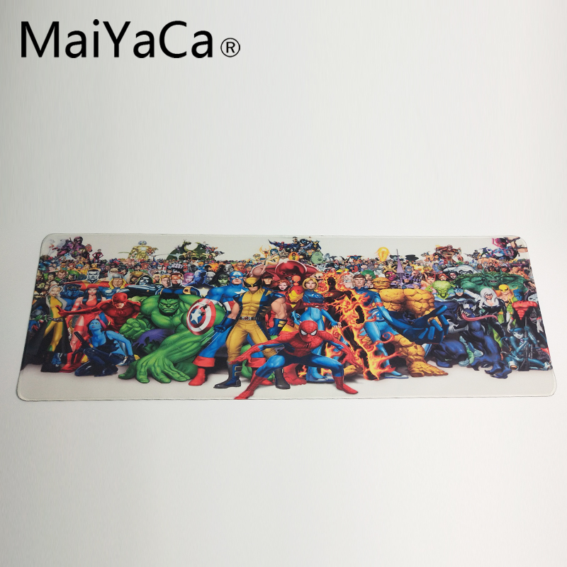 maiyaca league of legends mouse pad locked edge pad to mouse notbook computer mousepad 90x30cm gaming padmouse gamer best seller MaiYaCa The Marvel Universe Mouse pad High-end pad to Mouse Notbook Computer Mousepad Gaming Padmouse Gamer to Laptop Keyboard