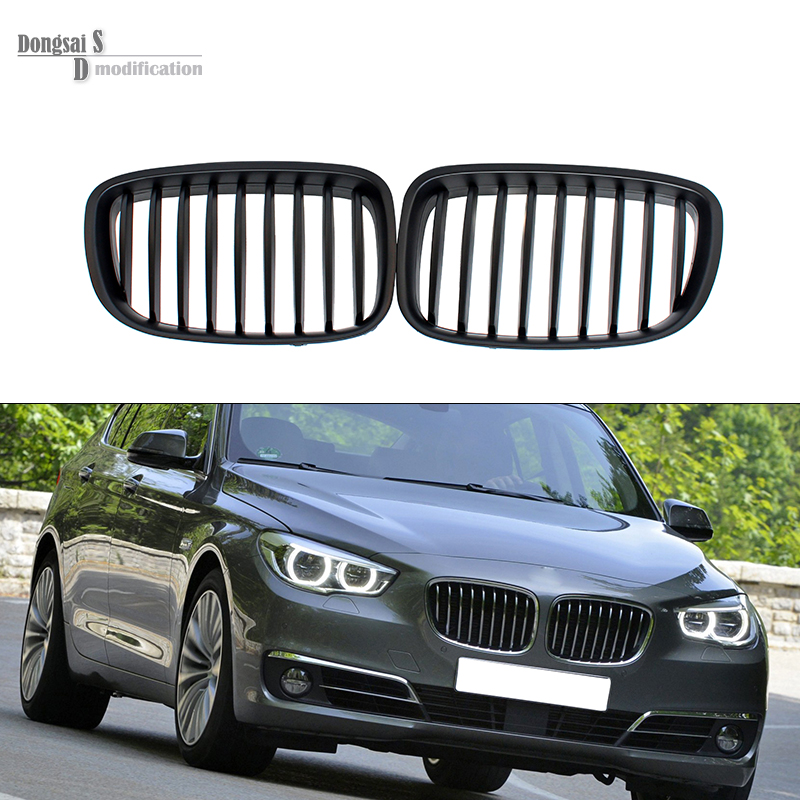 5 Series Gran Turismo GT F07 ABS Dual Slat Front Grill Grille For BMW 2010 + 528i 535i 550i Matte Black for bmw 5 series f10 2010 2011 2012 2013 2014 2015 2016 dual slat abs