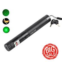 Laser Pen Remove Adjustable Starry Head Burning Match Lazer High Power Laser Level Pointer Green Pen Laser Pointer 532nm 10000m цена 2017