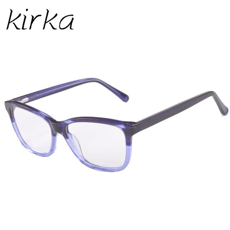 731524443f8c Kirka Good Look Glasses Frame Women Acetate Fashion Male Eyeglasses Frame  Women Purple Color Computer Eyewear