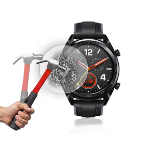 Image 4 - Tempered Glass on for Huawei Watch GT Protective Glass Smartwatch Screen Protector Film Anti Scratch Explosion proof 9H Glas