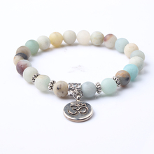 Lingxiang Trendy Natural Stone Bracelet Yogi Women Gift Fashion Healing Crystals Addictions Insomnia Jewelry