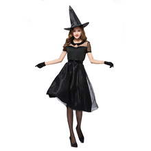 halloween costumes Halloween black veil witch cosplay costume party contracted temperament game