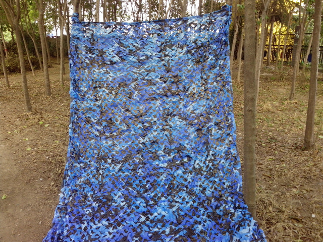 4x4M Military Ocean Blue Camouflage Net Hunting Camping Camo Net Photography Sun Shade Tent Car Covers free shipping