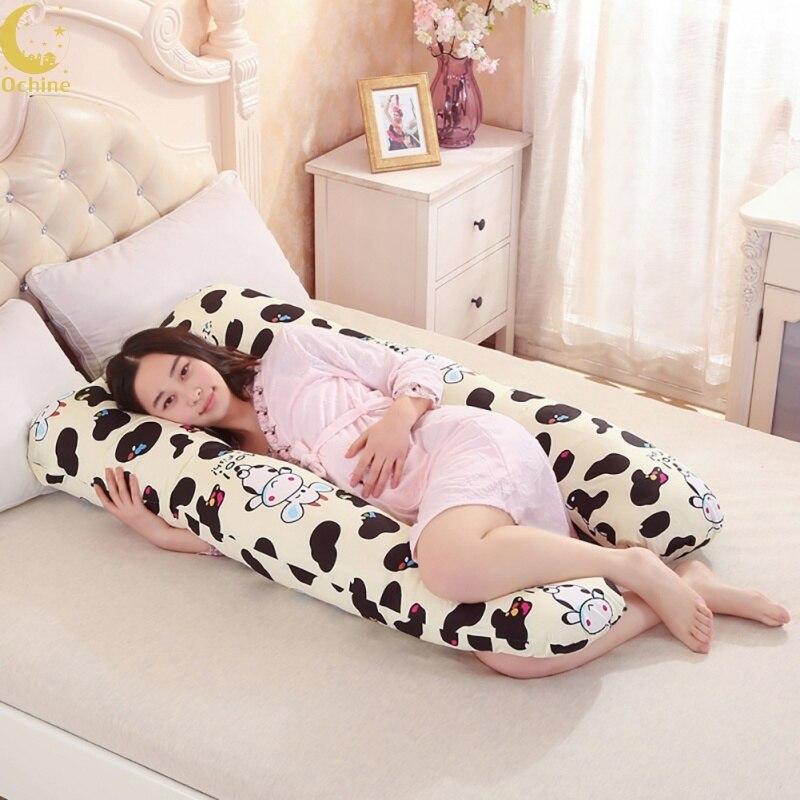 OCHINE 70*130*20 см кровать мультфильм для беременных сбоку слиперы Подушка U Форма для беременных ремень тело характер Беременность подушка