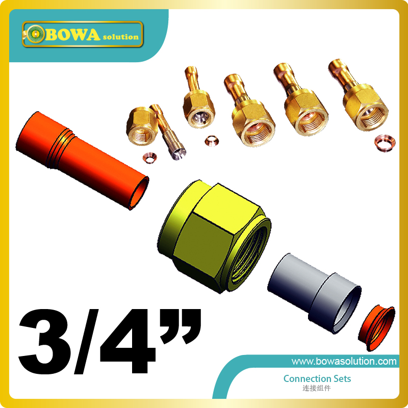 3/4 CONNECTION SETS as brass adaptor can be used for filter driers, sight glass and line components connection