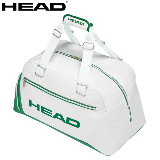 2018 New Head Tennis Bag Wimbledon Championships Fitness Sports White And Green