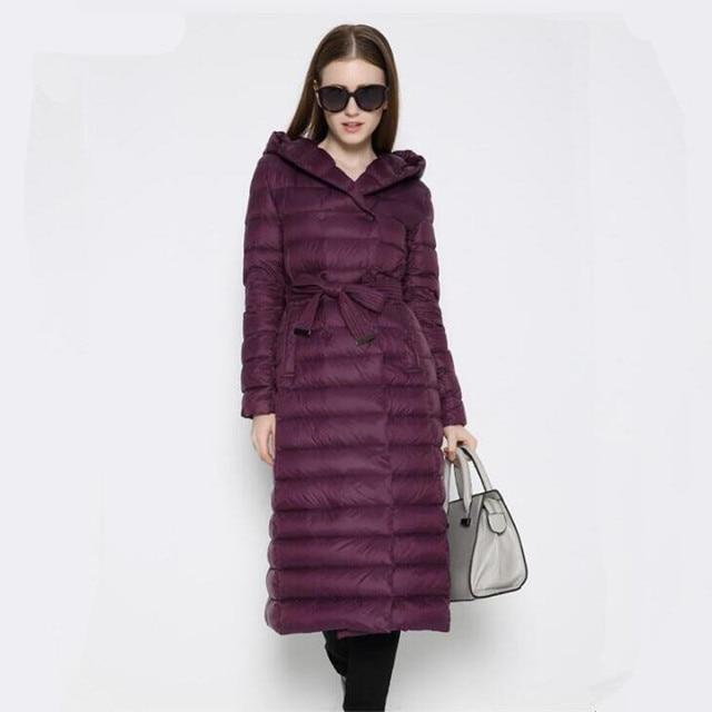 Мода 2017 Новый Дизайн зимняя женская Пуховики на гусином пуху Для женщин в Мужские парки Высокий воротник Длинные зимние теплые Повседневное пальто Пух-куртка