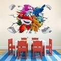 Cartoon Super Flügel 3D Wand Aufkleber Baby Home Dekoration Anime Poster Wand Aufkleber Kunst Spiel Wand Papier Kinder Kindergarten-in Wandaufkleber aus Heim und Garten bei