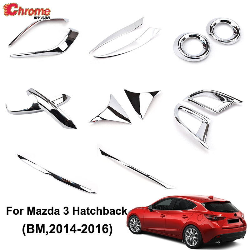 Rear Bumper Protector Cover Trim for 2014-2016 Mazda 3 AXELA Hatchback Steel