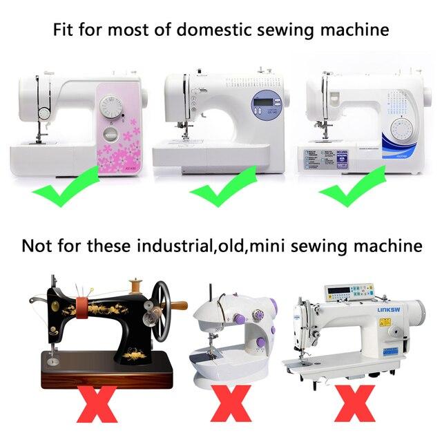 32 unids mini doméstica Costura máquina trenzado ciego punto darning ...