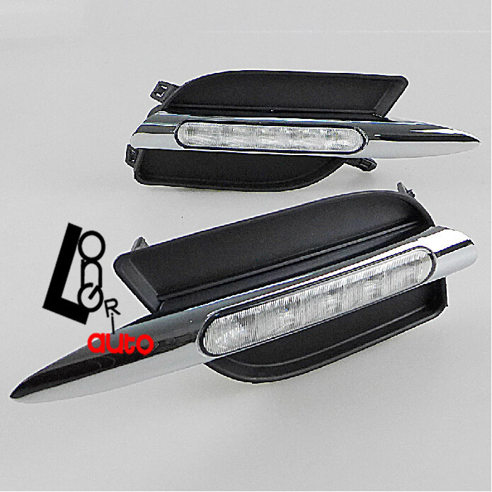 car styling led Fog Lamp LED DRL  daytime running light Super White  For Nissan Sunny 2011-2012 Car Accessories hot sale abs chromed front behind fog lamp cover 2pcs set car accessories for volkswagen vw tiguan 2010 2011 2012 2013
