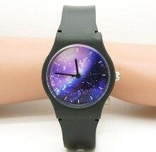 Willis reloj impermeable Unisex Mujeres Hombres Estrellada Espacio Púrpura Reloj de los cabritos Little Star Reloj de pulsera de Regalo de Cumpleaños Especial de 10 colores Y15