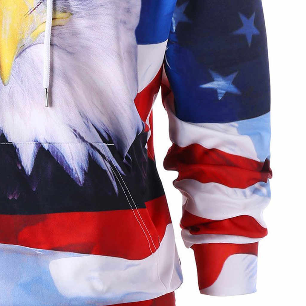 Adler Amerikanischen Flagge 3D Hoodies Männer Frauen Marke Männlichen Hoodie Sweatershirt 2018 Herbst Winter Lange Hülse Mit Kapuze Lässige