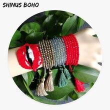 Shinusboho сексуальные браслеты с поцелуями регулируемые мужские