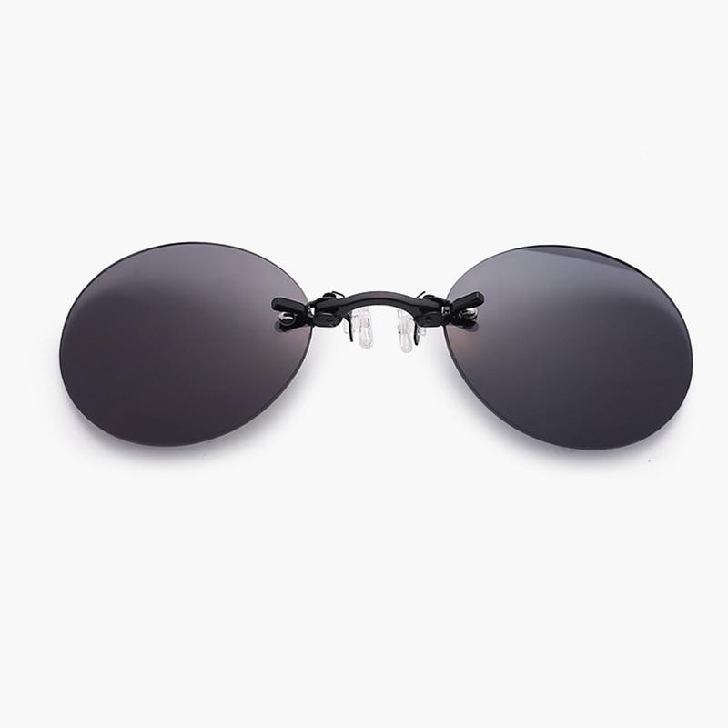 2018 Fashion The Matrix Morpheus Style Roumd Rimsless Sunglasses Men Brand Design Clamp Nose Sun Glasses Oculos De Sol