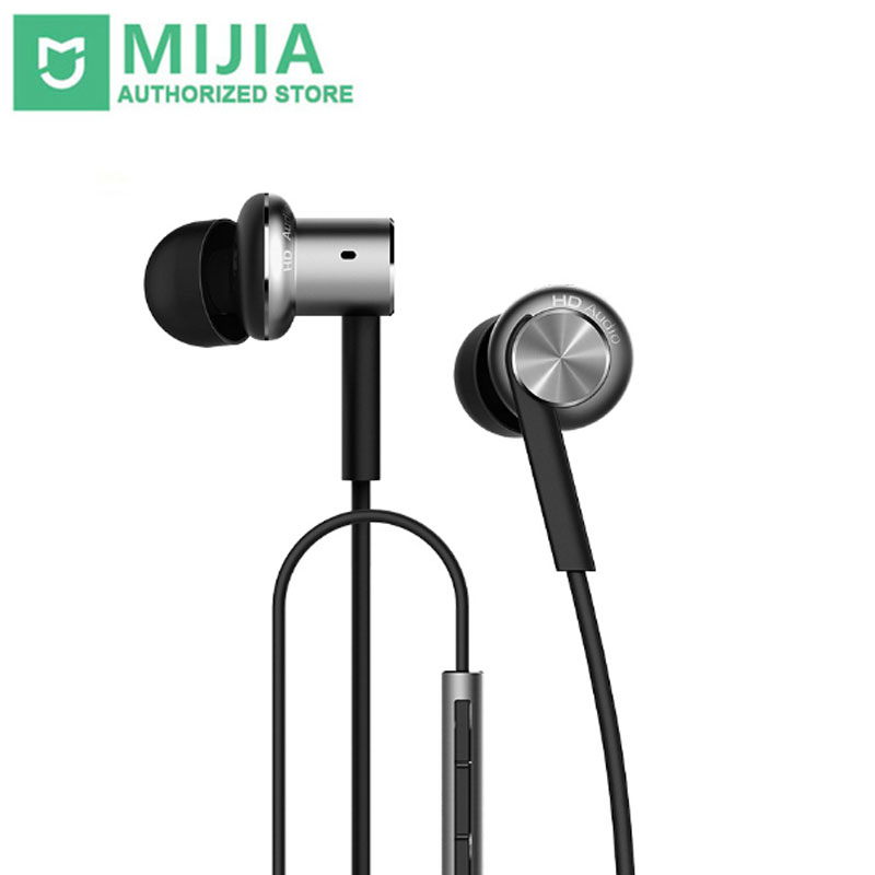 Xiaomi Hybrid Earphone Mi In-Ear Earphone Piston 4 Dual Drivers Earphone with Microphone For Phone Xiaomi Huawei Android Phones xiaomi miui 3 5mm stereo in ear earphone w microphone black