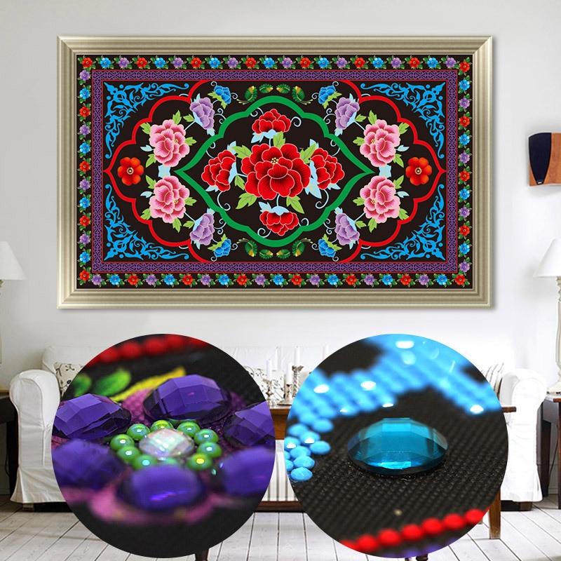 Il Nuovo 5d Diamante Ricamo, Diamante Mosaico, A Forma di Speciale, soggiorno camera Da Letto Dipinto Tibetano Arazzo Croce di Diamanti Punto