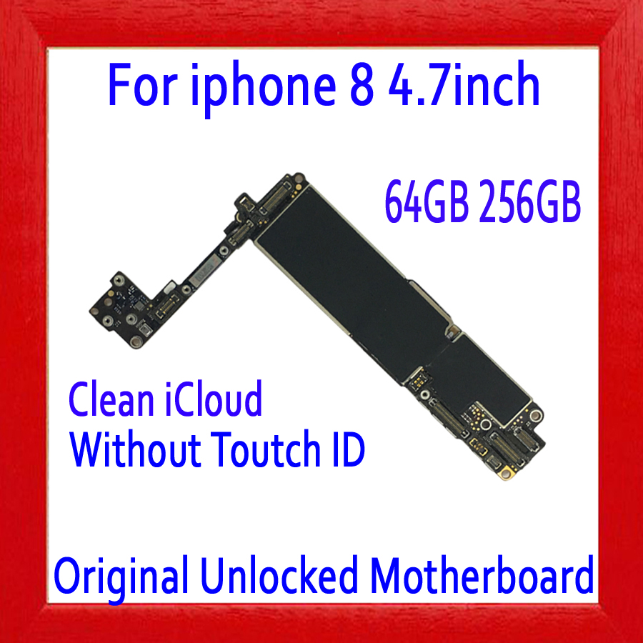 NO iCloud for <font><b>iphone</b></font> <font><b>8</b></font> <font><b>Motherboard</b></font> 64GB 256GB,100% Original unlocked for <font><b>iphone</b></font> <font><b>8</b></font> Logic board without <font><b>Touch</b></font> <font><b>ID</b></font>+Full chips image