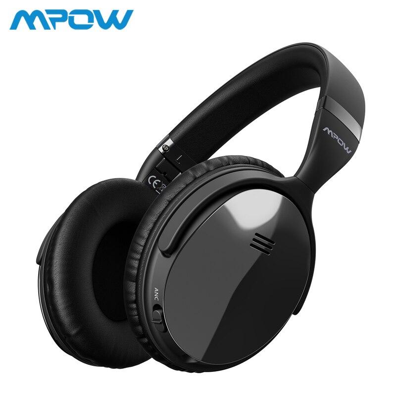 Origial Mpow H5 2nd поколения ANC Беспроводной Bluetooth наушники проводной/Беспроводной с микрофоном сумка для PC iPhone huawei Xiaomi