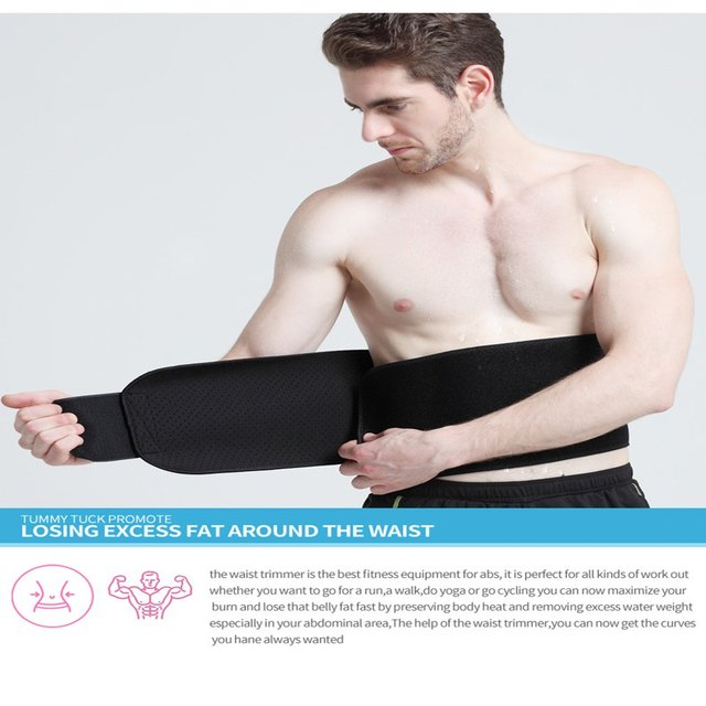 New Adjustable Waist Tummy Trimmer Slimming Sweat Belt Fat Burner Body Shaper Wrap Band Weight Loss Burn Exercise quemador de gr 3