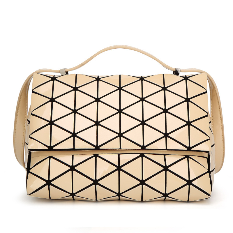 2018 New Fashion Japan Style Laser Baobao Bag Geometric Fold Over Diamond Luminous Women Brand Handbags Bag Bao Bao Issey Sac sa212 saddle bag motorcycle side bag helmet bag free shippingkorea japan e ems