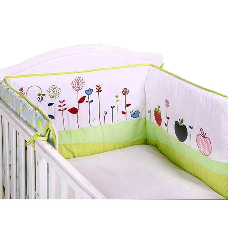 Baby Bed Bumper Comfortable Cot Bumper Cotton Baby Bed