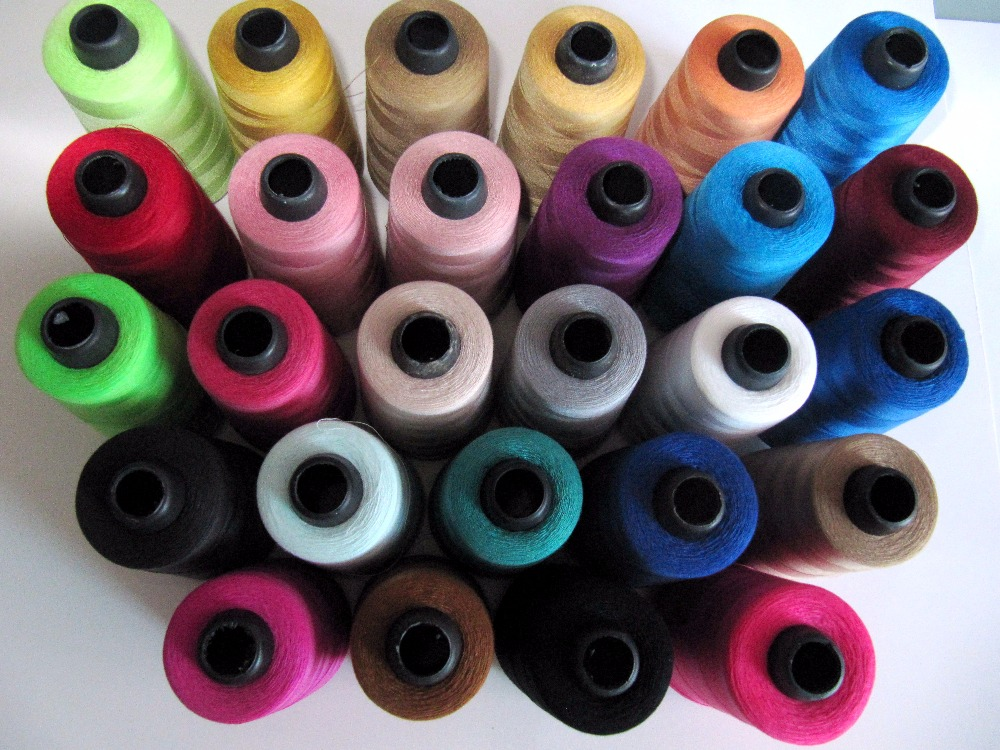 Free shipping 2pieces Multicolor high speed Sewing Thread 40/2s 4000 Yards  , length Polyester thread for shirt/dress/skirt S001